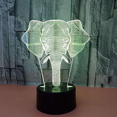 WULDOP Lámpara 3D Luz De Noche Animales calaveras decoraciones Luz Nocturna Infantil Lámpara Decorativa Ilusión Óptica 3D Ideal Para Regalo
