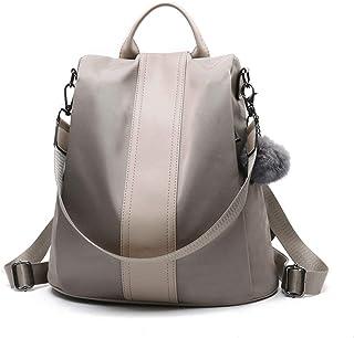 Luckin Women Backpack Purse Waterproof Nylon Schoolbags Anti-theft Rucksack Shoulder Bags