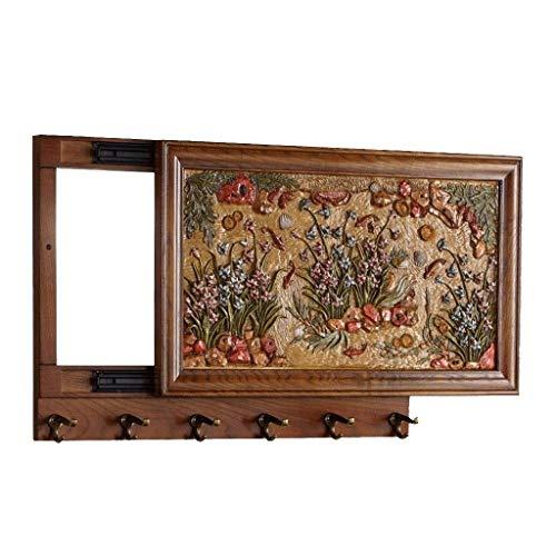 PULEGGIA Tridimensionale Pittura in rilievo con un gancio di funzione push-pull, scatola contatore elettrico decorazione della parete gancio di immagazzinaggio
