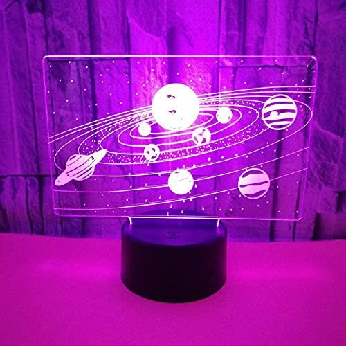 Yyhmkb Cocina 1St Armarios Pared Cocina 135 Decoracion Si Universo Toque Colorido 3D Luz Nocturna Crack 3D Led Visión Estéreo Luz Nocturna 3D Luz Nocturna Estéreo