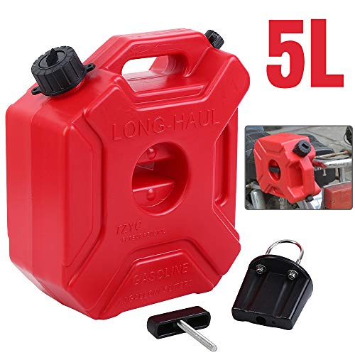 Samger 5L Rosso Carburante Gas Serbatoi Benzina Tanica con Supporto per moto ATV UTV