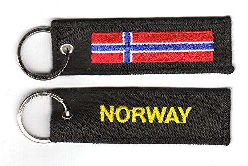 Schlüsselanhänger Norwegen Anhänger Fahne Flagge NEU