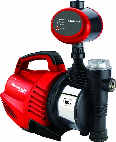 Einhell Hauswasserautomat GE-AW 9041 E (900 W, 4100 l/h Fördermenge, max. Förderhöhe 48 m, Vorfilter mit integriertem Rückschlagventil)