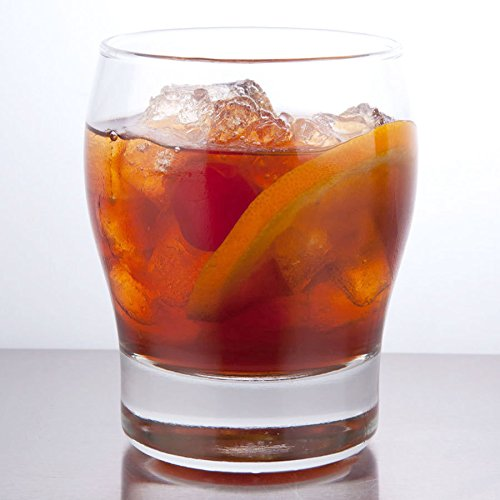 SET of 6, Libbey 2394 Perception 12 oz Double Old Fashioned Glass, w/Signature Party Picks