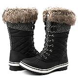 GLOBALWIN Women's 1730 Black Waterproof Winter Boots 7.5M US