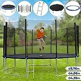 Trampolin Set - in verschiedenen Durchmesser: Ø 3,76 m - 4,39 m, Komplettset inkl. Trampolin, Netz,...
