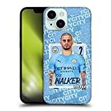 Head Case Designs Licenciado Oficialmente Manchester City Man City FC Kyle Walker 2020/21 First Team Carcasa rígida Compatible con Apple iPhone 13 Mini