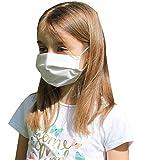 Pack 2x Mascarilla Higiénica Reutilizable UNE 0065 Tela 100% Algodón - Niño 9-12 años M - BFE 98% - Lavable Antialérgica - Homologada en España - Cottonblock