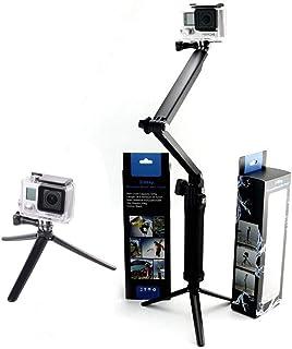 Coverzone GoPro Aksiyon Kamera Monopod Çubuğu Stand Mini Tripod 3in1 Siyah