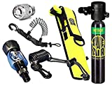 Spare Air New 3.0CF Nitrox Package for Scuba Divers with Dial Gauge Upgrade, Fill Adapter, Holster, Leash, and Free Quick Release Coil Lanyard ($15.95 Value)
