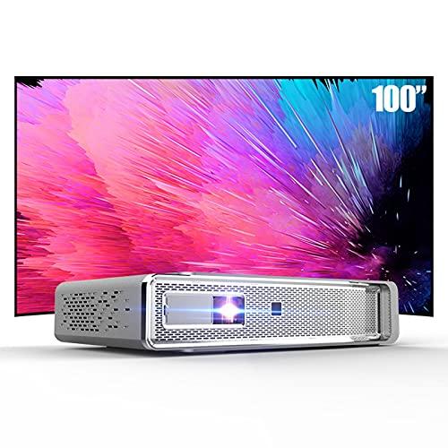 KANGLE-DERI Mini Proyector para El Hogar Conveniente Red Inalámbrica HD Smart 3D Cine En Casa Proyección Pared Dormitorio Dormitorio Bolsillo Teléfono Móvil Proyección 4K Sin Pantalla TV