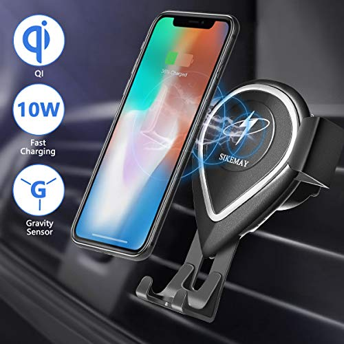 Fast Wireless Charger,10W Wireless Charging Pad Compatible iPhone 8/8 Plus,iPhone X,Samsung Galaxy S8,S8+,S7,S7Edge,S6Edge,Note5 and All Qi-Enabled Devices (Wireless Car Charger Mount)