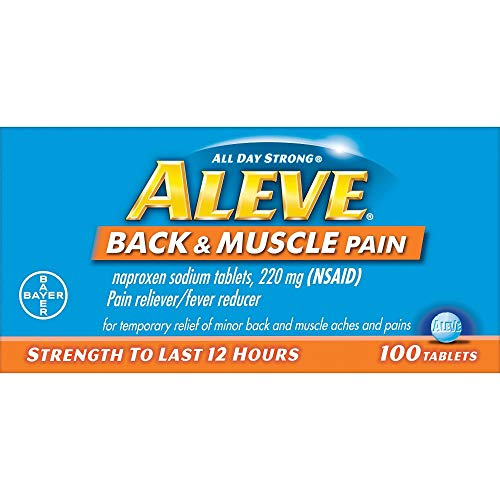 Aleve Back & Muscle Pain Reliever Tablets (Pack of 2)