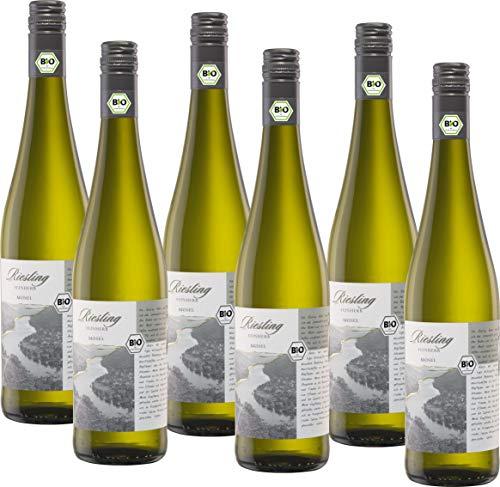 Bio mit Gesicht Weißwein Riesling feinherb Qualitätswein von der Mosel, Deutschland (6 x 0.75 l)