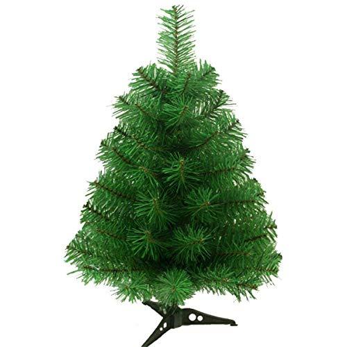 Fouriding Sapin de Noël Artificiel Arbre de Noël avec Pied Plastique pour Decoration Fete 60CM Vert