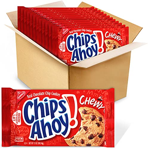 CHIPS AHOY! Chewy Chocolate Chip Cookies, 13 ounce (Pack of 12)