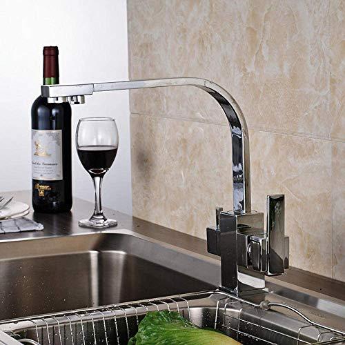 Conveniencia Bright Chrome grifo de la cocina agua pura boquilla for beber agua del grifo solo agujero del fregadero del recipiente mezclador grifo cubierta montada Garantizar
