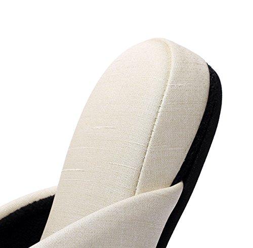 メンズ布地調ビニールレザースリッパ水拭きOK防汚加工済耐アルコール・耐次亜塩素酸ナトリウム大きいサイズ(L(25.5cm〜27.5cm),アイボリー)