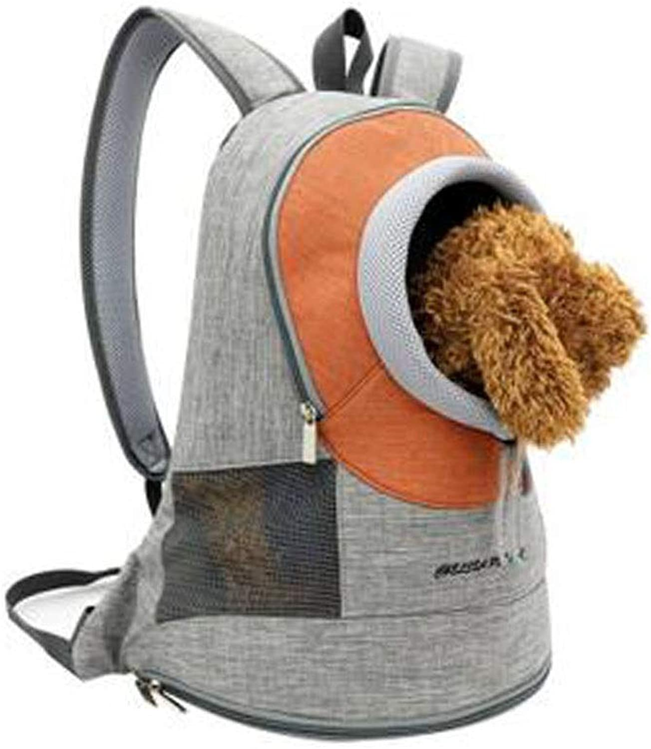 Pet Travel Backpack, Beam Mouth, Suitable for Cat Puppy Soft Backpack, Suitable for Camping, Hiking, Walking(bluee, Green, orange) (color   Lorange)