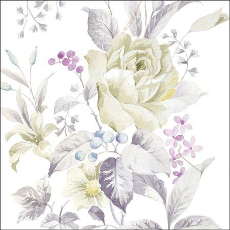 """""""White Roses"""", Everyday 2016, confezione da 20 tovaglioli di carta, 3 Veli, 33 x 33 cm"""