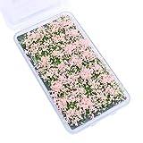 Tiardey Flower Grass Tufts Juego de Mesa de Arena, Kit de Modelo de Terreno, racimo de Flores de arbusto,en Miniatura, Modelos temáticos de Mesa de Arena, Modelo de Paisaje - Arbusto Rosa