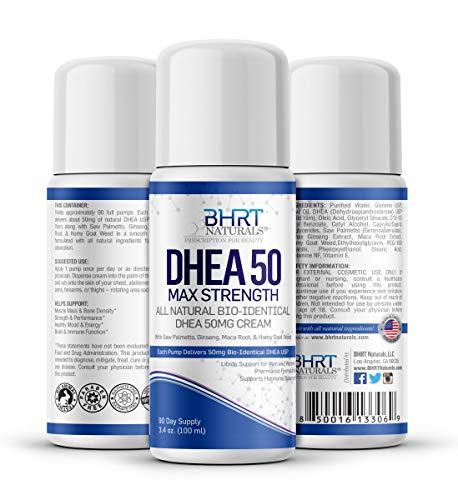 DHEA Cream 50mg for Men & Women Bioidentical DHEA USP Natural - Natural Energy Supplement, Mood Boost for Healthy Aging, Support Hormone Balance - 90 Day Supply, USA Made, Pharmacist Formulated