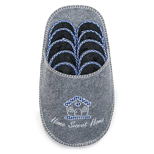 UMOI Zapatillas de invitados   conjunto de 5   Zapatilla de fieltro   Gris