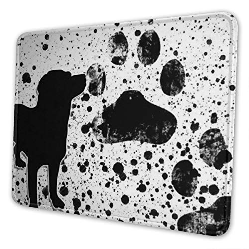 Gaming Mouse Pad - Puppy Paws Rectangle Rubber Mousepad - 7 X 8.6 in X 0.12''(3mm Thick) Mouse Mat for Gift Support Wired Wireless Or Bluetooth Mouse