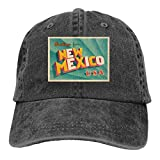 Greetings from New Mexico Gorra de béisbol ajustable negro