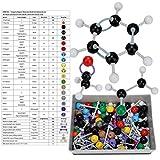 Delaman Atom Model, 267 Pcs Kit de Estructura Inorgánica Molecular Orgánica Atom Link Model Set Herramientas Educativas para Estudiantes Maestros