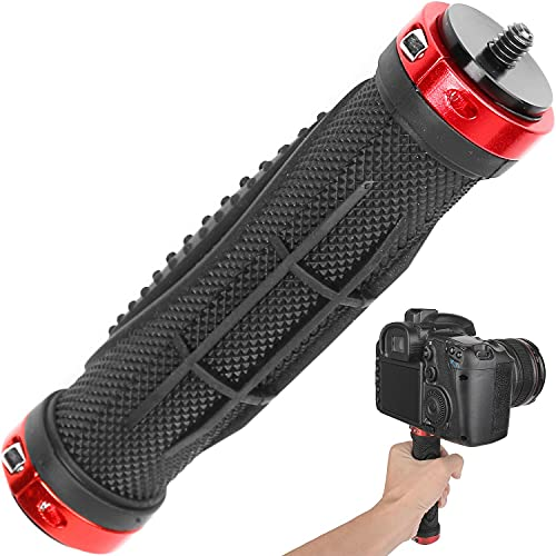 ChromLives Camera Handle Grip Support Mount Universal Handlegrip Camera Stabilizer with 1/4 inches Male Screw for Digital Video Camera Camcorder Action Camera LED Video Light Smartphone