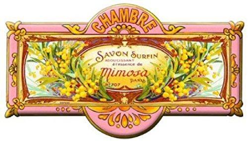 Plaques de Portes Plaque en métal de Chambre à Coucher – Mimosa Motif de Fleurs [en français]