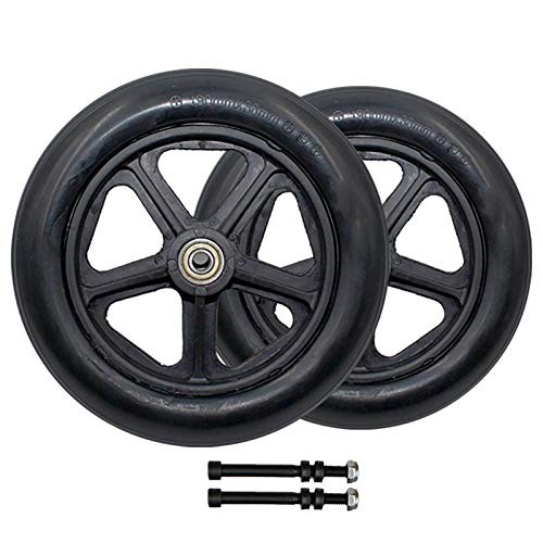Wheelchair Front Caster 8inch Solid Wheels Replacement Part For Rollators, Walkers Tires 2 Pack