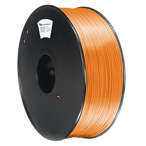 Surreal Pure ABS 3D Printer Filament 1.75mm - 1KG spool, Orange