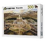 FAWFAW Wooden Jigsaw Puzzles, 500 Piezas, Palacio De Versalles, 1500/1000/500/300 Piezas, Ensamblar Juguetes para Estimular Imaginaciones