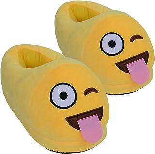 a7cf41dd8a3d3 NIKIMI Pantoufles de Coton de Printemps en Peluche Emoji Chaussures Smiley  émoticône Bottes de Printemps Doux