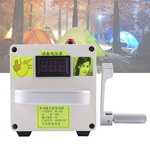 LianDu Generador Manivela Pequeña Generador Manual