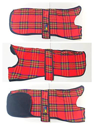 Ropa de cama para mascotas de forro polar cálido doble galgo rojo Whippet Saluki Houndeetah (tamaño 24 pulgadas)