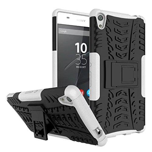 FaLiAng Sony Xperia XA Ultra Funda, 2in1 Armadura Combinación A Prueba de Choques Heavy Duty Escudo Cáscara Dura para Sony Xperia XA Ultra (Blanco)