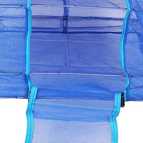 YMYGCC Fish trap Catching Fishing Accessories Portable Durable 40 Folding And Drying Cage Square Thickened Drying Fish Net 21 (Color : Blue)