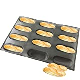 Bluedrop Silicone Baby Sandwich Forms Hot Dog Bread Molds Eclair Sheets Non Stick Bakery Trays Rolls...