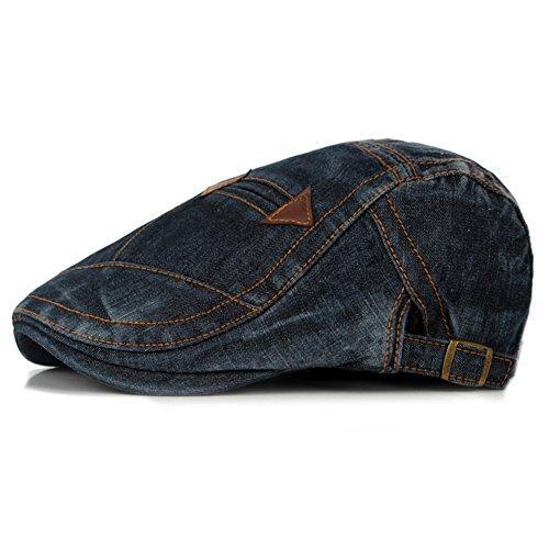 Leisial Chapeaux Béret Coton Noir Unisexe Béret de Loisirs Chapeau pour Loisir Voyage(55-60cm)