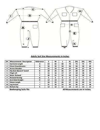 Bee Suit SFV 3X Layers Sicherheit, Unisex White Fabric Mesh Imkeranzug, Imkeranzug Bee Veil Imker Outfit Imker Hut Fencing Veil (4XL)