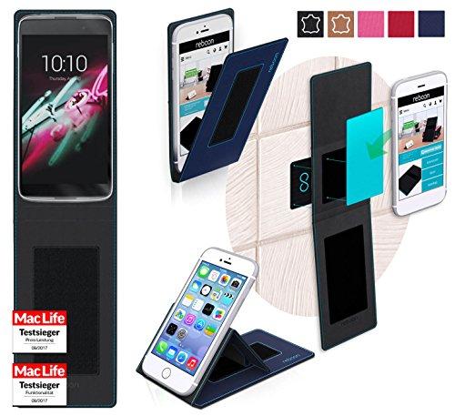 Hülle für Alcatel OneTouch Idol 3C Tasche Cover Hülle Bumper | Blau | Testsieger