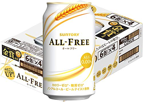 [Case of 24] Suntory Japanese Beer Beverage, All Free, 0.00% Non Alcohol, Zero Calories And Gluten Free , Japan No. 1 Best Selling NA Beer, 11.2 Fl Oz