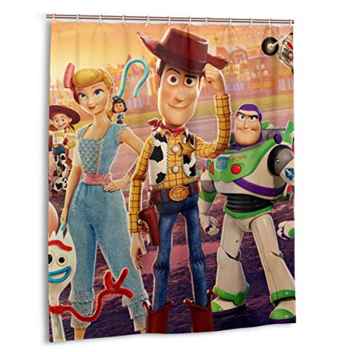 KRISMARIO Toy Story Cartoon Movie Shower Curtains Target Durable Waterproof Resistant Fabric Funny Bath Shower Curtain for Bathroom with 12 Hooks, 60 X 72 Inches