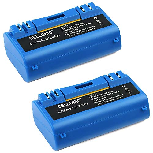 CELLONIC 2X Batteria Premium (14.4V, 3600mAh, NiMH) Compatibile con iRobot Scooba 390, 330, 340, 5800, 5900, 5910, 5930, 5940, 6000-14904 Batterie di Ricambio accu Sostituzione Strumento sostituto