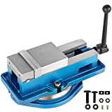 Happybuy Milling Vise 4 Inch,Bench Clamp Vise High Precision Clamping,Mill Vise Ductile Iron Material with 360 Degree Swiveling Base