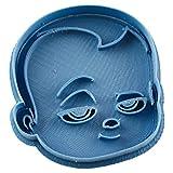 Cuticuter El Bebe Jefazo Cara Cortador de Galletas, Azul, 8x7x1.5 cm