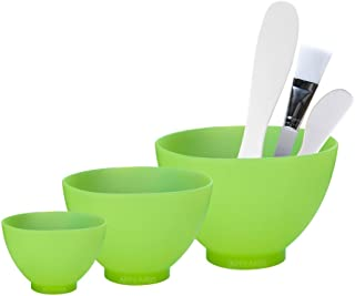 Appearus Facial Mask Mixing Bowl Set - Professional Spa Face Mask Mixing Tool (Light Green)